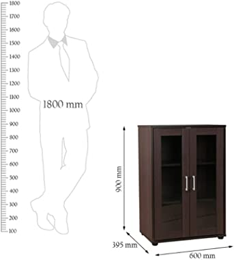 HomeTown Epson Engineered Wood Storage Cabinet in Beech Chocolate Colour