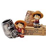 gerFogoo 1Pc Anime One Piece Rufy Resina Action Figure Scrivania da ufficio Portapenne Decorazione da collezione Action figurine Giocattoli per ragazzi, Colore casuale
