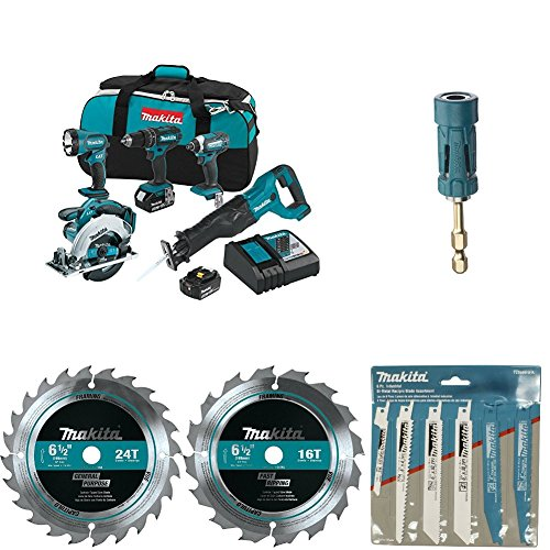 Makita XT505 18V LXT Lithium-Ion Cordless 5-Pc. Combo Kit with with...
