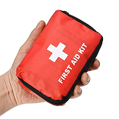 SlimK 42 Piece First Aid for Car Emergency Kit Home Medical Camping Office Travel Compact Kit