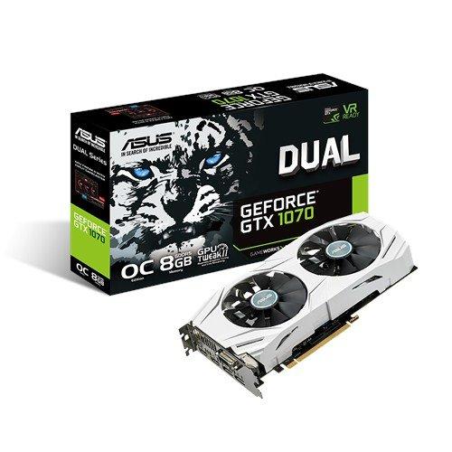 ASUS DUAL-GTX1070-O8G Grafikkarte GeForce GTX 1070 8 GB GDDR5 - Grafikkarten (GeForce GTX 1070, 8 GB, GDDR5, 256 Bit, 7680 x 4320 Pixel, PCI Express 3.0)