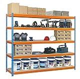 Simonrack Kit Ecoforte 1804-5 Chipboard Azul/Naranja/Mader