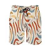 QUEMIN Pantalones Cortos de la Playa del Lazo de los Hombres, Malla de Secado rápido Alegre de la guarnición de los Troncos de natación del Chile...