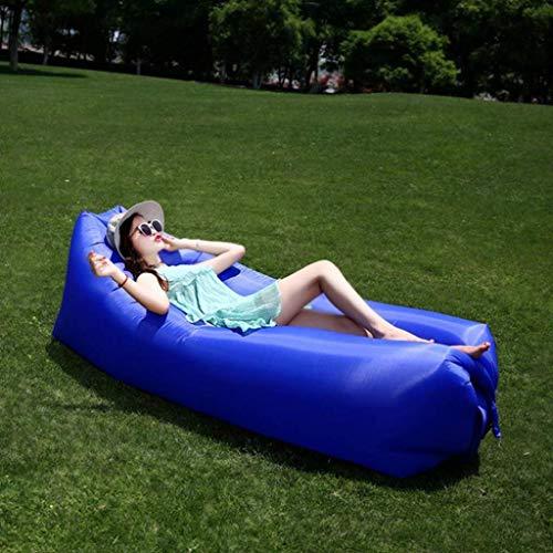 Chunjiao Lazy Couch im Freien beweglichen aufblasbaren Sofa Mittagspause Air Cushion Sheets Menschen Camping Beach Bed Air Sofa faul Sofa Klappstuhl (Color : Blue)