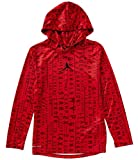 Air Jordan Long Sleeve Hoodie Youth Boys Athletic Hooded Shirt (Gym Red, S 8)