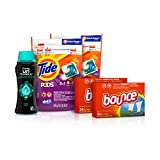 Tide Pods Laundry Detergent Pacs (2x35ct), Downy Unstopable Scent Beads (14.8 oz) and Bounce Dryer Sheets (2x34ct), Better Together Bundle, 5 Piece Set, Meadow