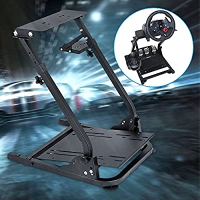 Racing Steering Wheel Stand for Logitech G920/G25/G27/G29 Wheel, Driving Gaming Simulator Racing Rig, Pedal & Shifters Not Included