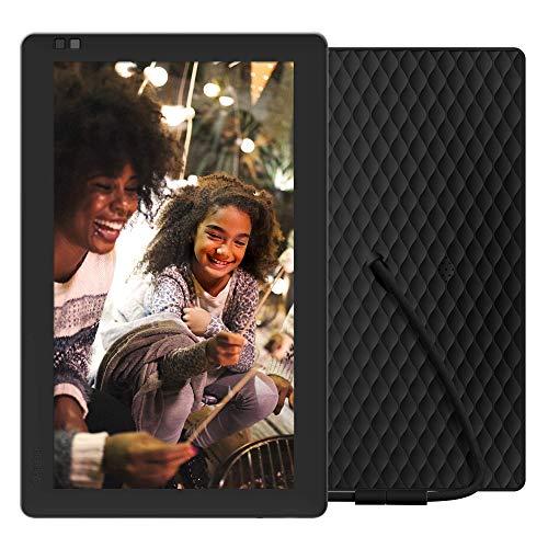Nixplay Seed – Cornice digitale 10 pollici WiFi Cloud per foto e video, con schermo IPS, app per iPhone e Android, 10GB di archiviazione online gratis e sensore di movimento. Tutto in una sola cornice digitale. Nero W10A