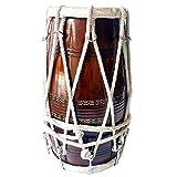 Fatto a mano in legno Dholak Folkisches indiano strumento musicale legato da corda