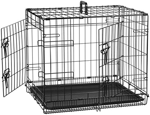 AmazonBasics Double-Door Folding Metal Dog Crate