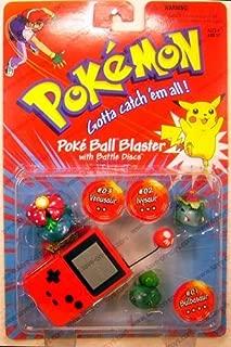 POKEMON 1999 - Pokeball Blaster - 3-Pack - Evolution Pack - #01 Bisasam / Bulbasaur & #02 Bisaknosp / Ivysaur & #03 Bisaflor / Venusaur
