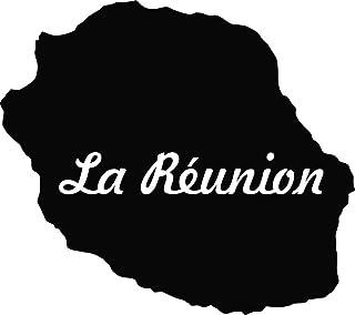 sticker Autocollant 974 La Réunion  Blanc ile11