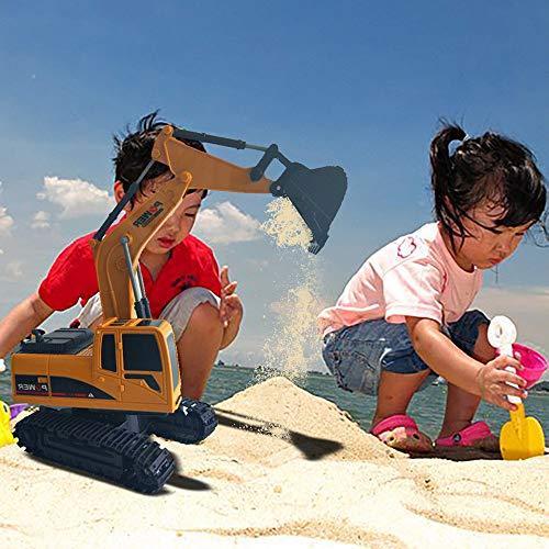 RC Auto kaufen Kettenfahrzeug Bild 3: Elektrischer Bautraktor mit RC Fernbedienung Bagger Modell Spielzeug für Kinder, MMLC 1:24 Bagger Sandkasten Modell Engineering Fahrzeug hohe Simulation Modell Spielzeug Kinder Geschenk (Mehrfarbig)*