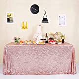 GFCC Seamless Rose Gold Sequin Tablecloth 60'x120'