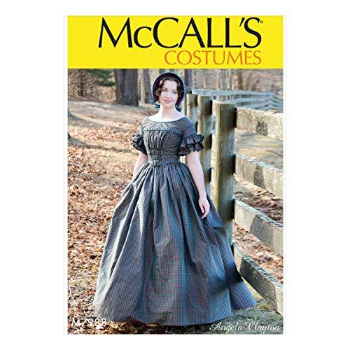 McCall Pattern Company McCall's Damen-Schnittmuster viktorianisches Kleid von Angela Clayton, Größen 42-50, versch.