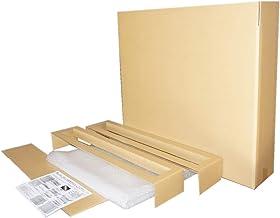 32インチ薄型テレビ梱包用ダブル硬材質ダンボールと緩衝材セット (中:830X190X680)