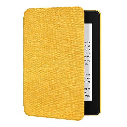 Estuche de Tela Ayotu para Kindle Paperwhite 10th Gen 2018 a Prueba de Agua - con Auto Wake/Sleep - Adsorción de la Cubierta Posterior de Soporte (no se Ajusta al Nuevo Kindle 10th 2019), K10 Yellow