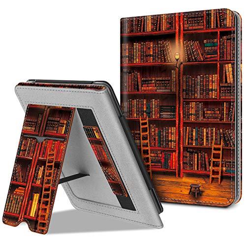 Fintie Hülle kompatibel für Kindle (10. Generation - 2019) / Kindle (8. Generation - 2016) - Kickstand Schutzhülle mit Kartenfach Handschlaufe & Auto Sleep/Wake Funktion, die Bibliothek