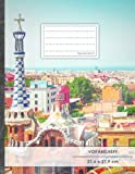 VOKABELHEFT DIN A4 • 50+ Seiten, Soft Cover, Register, 2 Spalten, Erfolgs-Tacker, 'Spanisch' • Original #GoodMemos Schulheft • Sprachen und Vokabeln leicht lernen, Lineatur 53