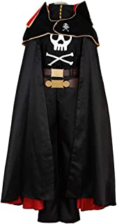 Custom Size Adult Kids Galaxy Express 999 Space Pirate Captain Harlock Cosplay Costume Full Set