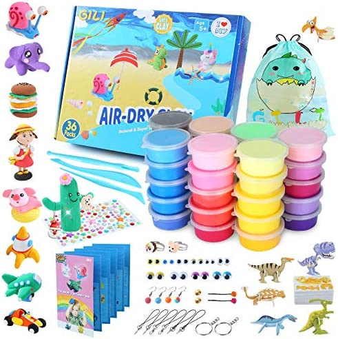 Gili Air Dry Clay Art and Crafts for Girls and Boys Ages 8 12 Magic Modeling Toy Kits to DIY product image