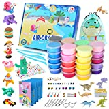 Gili Air Dry Clay, Art and Crafts for Girls and Boys Ages 8-12, Magic Modeling Toy Kits to DIY Models and Jewelry Sets, Best Christmas, Birthday Gifts for 5, 6, 7, 8, 9, 10, 11 Year Old Kids and Teens