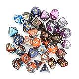 DyNamic 35 Pz Polyhedral Dices Set D20 D12 D10 D8 D6 D4 Dices Gadget 5 Colori...