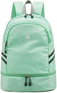 Women Sports Backpack Gym Bag with Shoe Compartment Wet Pocket Travel Backpacks Anti-Theft Pocket Water Resistant Workout Bag (Light Green)