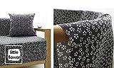ONECHANCE Tela de algodón de lino Mantel floral Hecho a mano DIY Tela de costura por The Meter 100x150cm (39'x59') Color pequeña flor Size 1 metro