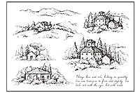 森の小屋DIYスクラップブッキング/カード作成/キッズクリスマス楽しい装飾用品用の透明なクリアスタンプ