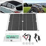 Seacanl Panel Solar monocristalino, Kit de Panel Solar Puertos USB Hembra duales solares portátiles para Turismo Farola Solar para plantación de cría en Exteriores