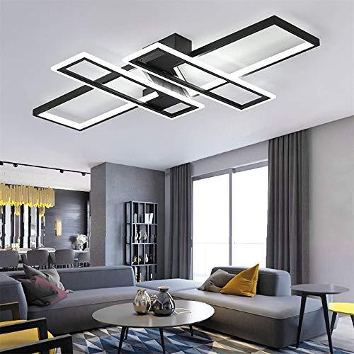 FBFC Modern LED Ceiling Lights, Black Dimmable Chandelier,...