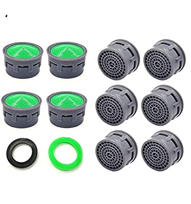 Faucet Aerator, Faucet Flow Restrictor Replacement Parts Insert Sink Aerator for Bathroom or Kitchen (10pcs)