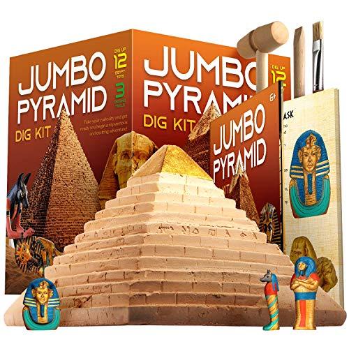 Dr. Daz Ägypten Ausgrabungsset für Kinder - Experimentierset Groß Pyramide Spiel Dig Kit Spielzeug für Kinder Ab 4 5 6 7 8 9 10 Jahre