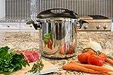 Barton 10-Quart Easy-Lock Lid Turbo Pressure Cooker Stove Induction Compatible 10 QT Capacity W/Recipes Book