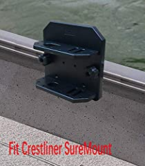 Safe and convenient storage for fishing tools Holds a pair of pliers ,2 knives & 16 lures Holder Quickly move the base along the track Works for Crestliner SureMount
