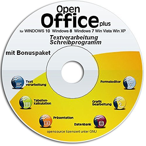 Open Office Suite - Home Student Professional 2021 DEUTSCH das ähnliche Programmpaket für Windows 10-8-7-Vista-XP Schreibprogramm, Textprogramm, Präsentationsprogramm