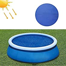 Solar Pool Cover, 8/10/12/15ft Round Solar Pool Cover, Reduce Water Evaporation Keep Water Warm, Pool Blanket Covers for Inflatable Pool, Above Ground Pool, Easy Set and Frame Pools (10 FT, Blue)