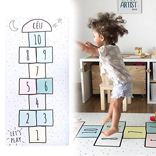 Spielteppich Kinderteppich Spielzeug Teppich Matte Kinderzimmer Babyteppich Mit Hüpfspiel Teppich Für Jungen Mädchen Kinder Baby,80 cm x 160 cm