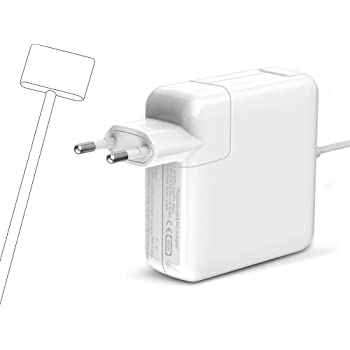Cargador Mac Book Air 45W, Magsafe2 Adaptador corriente Forma de T ...