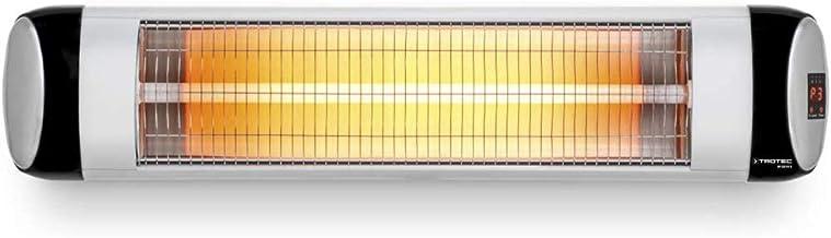 VIY Calentador Infrarrojo, Calefactor para Exteriores, 3 Niveles Temperatura(800/1600/2500W), Mando a Distancia, Ahorro Energético, Protección IP44, Montaje Pared (Plata)