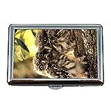 Yanteng Zigaretten-Etui/Box, Eule und Maus HD Wallpaper herunterladen für Handy, Visitenkartenetui Visitenkartenetui Edelstahl
