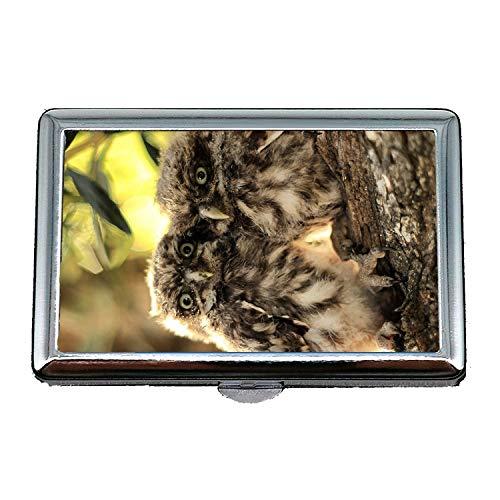 Zigaretten-Etui/Box, Eule und Maus HD Wallpaper herunterladen für Handy, Visitenkartenetui Visitenkartenetui Edelstahl
