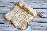 Seifensäckchen aus Bio-Baumwolle, 2 Stück, Seifenbeutel waschbar, Aufbewahrung Seifenreste,...