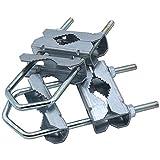 Abrazadera doble 18HQ para mástil - accesorios soporte para tubo o mástil de hasta 58mm de acero...
