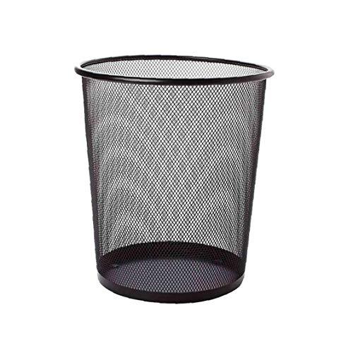 1x Mesh-abfalleimer Runde Mesh-papierkorb Müllkorb Recyclingbehälter Für Badezimmer Küche Schwarz L