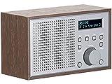 auvisio Acceso INALÁMBRICO A Internet Radios: Radio por Internet WLAN con Carcasa de diseño de Madera, 2 Tiempos de Alarma y aplicación, 10 vatios (WiFi Radio)