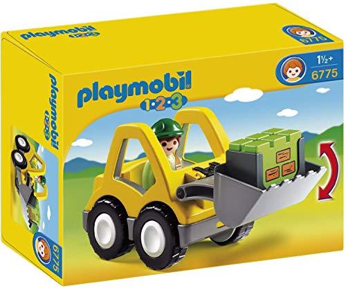 PLAYMOBIL-1.2.3 Excavator Cargador de Rueda Colores, Miscelanea (6775)