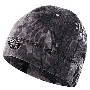 (ガン フリーク) GUN FREAK フリース ニット帽 ニットキャップ 迷彩 サバゲー ミリタリー (タイフォン ブラック)
