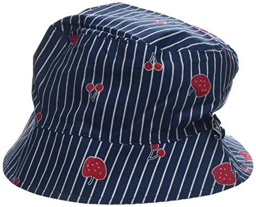 maximo Mädchen Hut mit Schleife Mütze, Mehrfarbig (Navy-Streifen-Red Fruit 48), 53